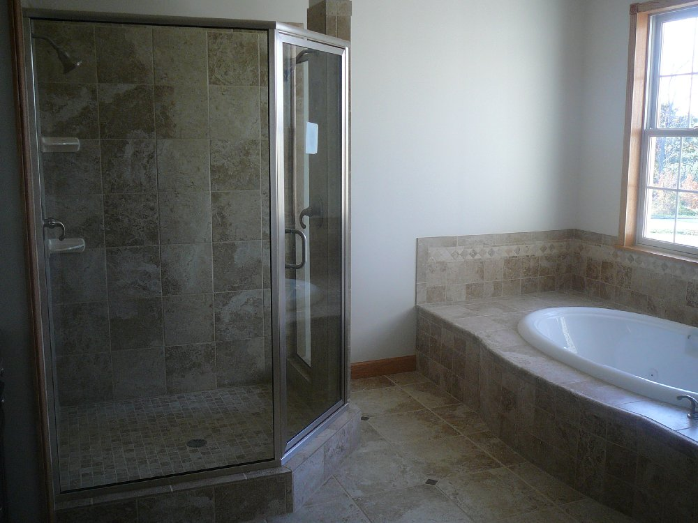 Ramsay and son construction custom tile work and bathrooms for Custom bathrooms